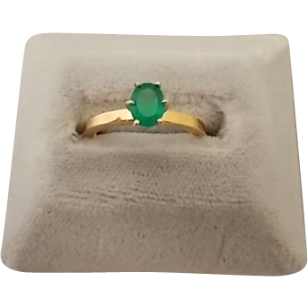 Elegant .57ct Oval Emerald Ring