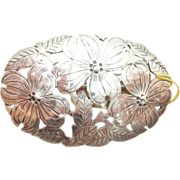 Arts and Crafts Oval Sterling Pin by Stavre Gregor Panis