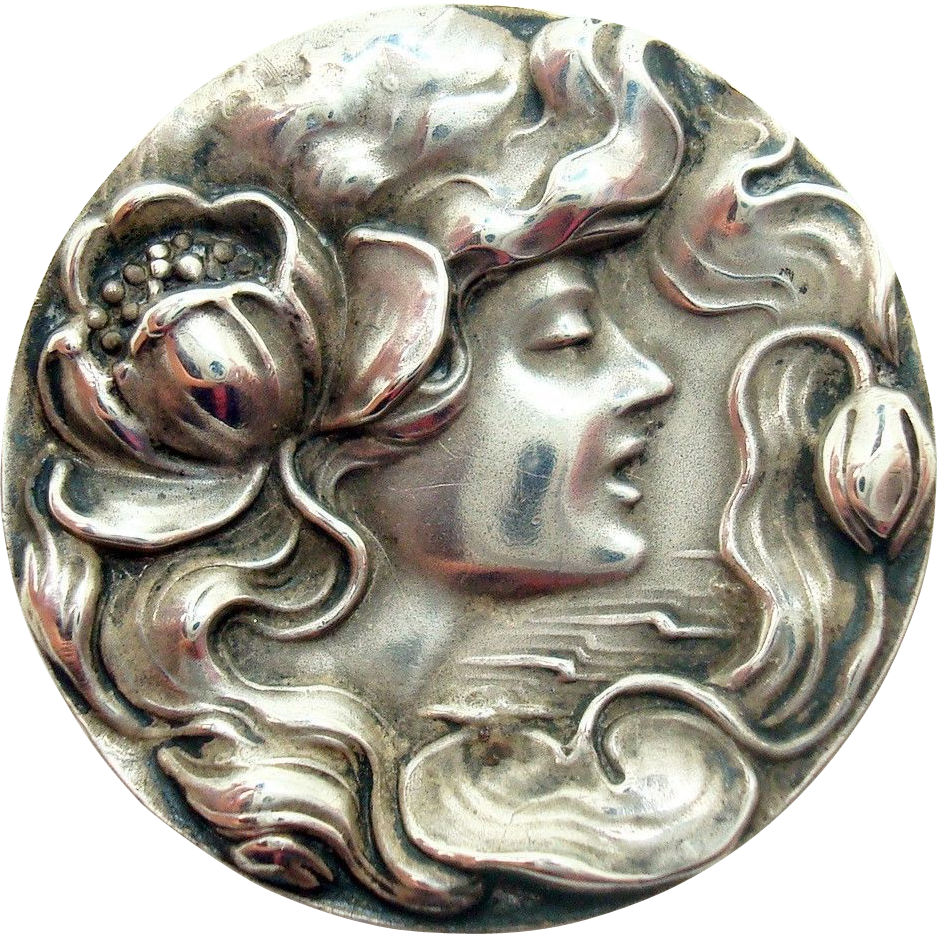 Unger Art Nouveau Sterling Pin