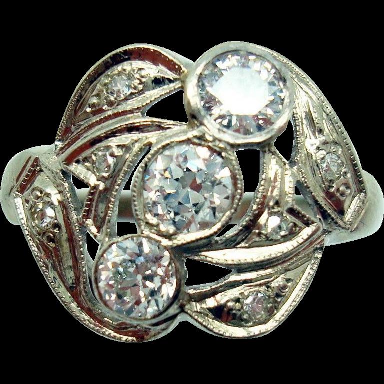 14 Karat Gold Genuine Natural Diamond Ring