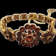 Victorian Bohemian Garnet Link Bracelet
