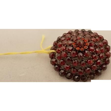Victorian Bohemian Garnet Rosette Pin
