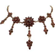 Glamorous Bohemian Victorian Garnet Necklace