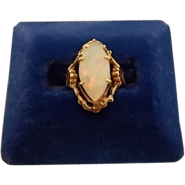 Luxurious 1.92ct Marquise Opal Ring