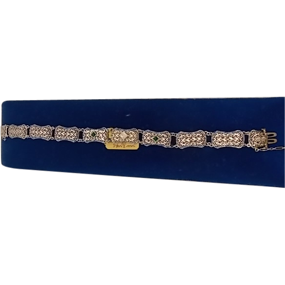 10 karat Diamond Filigree Bracelet