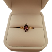 10 karat Victorian .17ct Ruby Ring with Diamonds