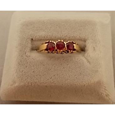 Glamorous 14 karat Round .61ct Ruby Ring