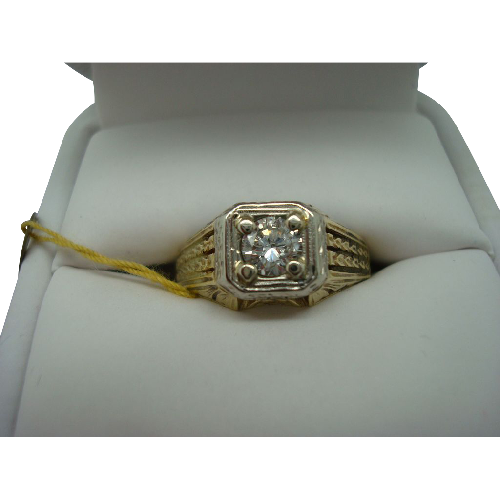 14 karat Yellow Gold Diamond Ring  .43 ct.