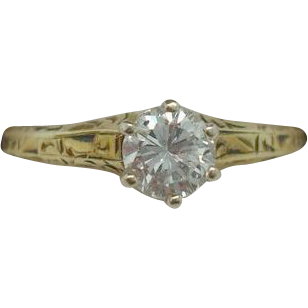 14 karat .35ct Diamond Ring