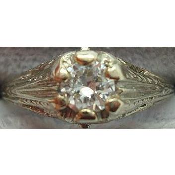 Filigree 14 karat  Ring with .29ct Diamond