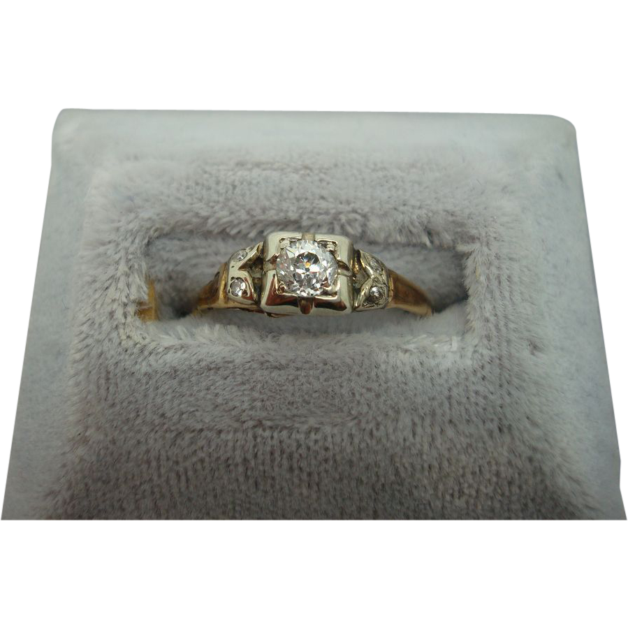 Victorian .25ct Round Diamond Ring