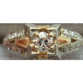 Ravishing 14 karat Victorian Ring with .18ct Diamond