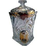 Jefferson's Tokyo Pattern Covered Sugar Bowl Clear with Gold