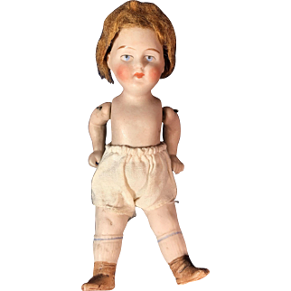 "5"" All Bisque Porcelain doll"