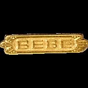 Vintage BEBE Brooch