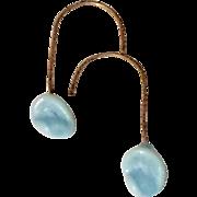 Vintage Blown Glass Doll Earrings