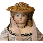 French Fashion Straw Doll Hat