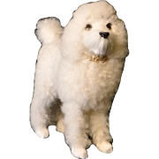 White Poodle for French Fashion Doll