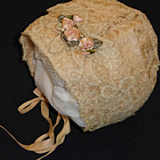 Pink Silk and Lace Bonnet