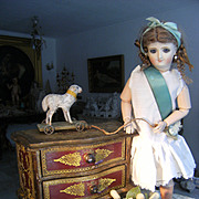 Beautiful very charming bombe dresser for your Fashion doll cabinet.