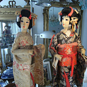 Beautiful Japanese Nishi Geisha dolls in gorgeous  original outfit.