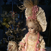 Gorgeous real French Haute Couture outfit/dress for a BRU, Jumeau, Steiner, F.G.