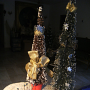 Beautiful set vintage Christmas trees.