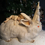 Gorgeous majestic Lady rabbit, as friend for your dolls.