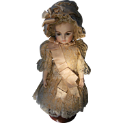 Gorgeous French BeBe dress and French antique  hat for a antique doll, Jumeau, Bru,Steiner from 50cm or 19.7 inch.
