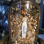 Gorgeous antique glass dome, with Mother Maria......