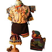 Beautiful Oriental costume contains 4 parts.