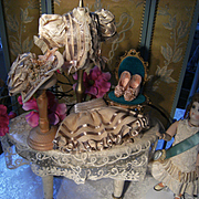 A absolutely Majestic little antique dolls dress, hat and shoes from France.