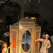 Top class Art Nouveau Jugendstil Doll's wardrobe.