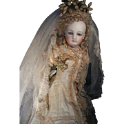 Gorgeous Majestic French Brides dress, Tiara, veil, and slippers.....for your Fashion doll.