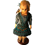ON HOLD for SUZANNE.Gorgeous antique dress for your Bru , Jumeau, or other doll from 38cm. or 15 inches.