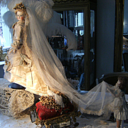 @@   ON HOLD for EMMA.    OMG...Her Imperial  highness Empress Sissy in her French Haute Couture  Bridal gown....