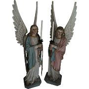 ATTENTION: ON HOLD.. Woooow....... What a divine,adorable religious   pair of antique Angels.....,