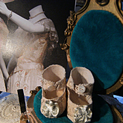 Lovely little shoes for your antique doll.