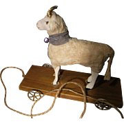 Beautiful  antique putz sheep for in your doll's cabinet.
