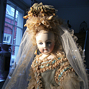 Oh my Goodness ! Look what we have here....The glory of my  Empress Sissy Fashion doll,  in one of her famous Bridal gowns !