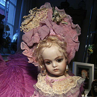 Most adorable dress for little Jumeau,Steiner, or  other antique doll