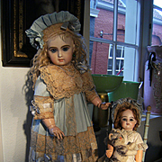 Beautiful French BeBe dress antique Haute Couture design for a Bru, Jumeau, FG doll from 63cm or 24,5 inches