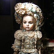 Adorable BeBe dolls dress and hat for your  antique doll, Jumeau Bru, Steiner...48cm or 19 inches