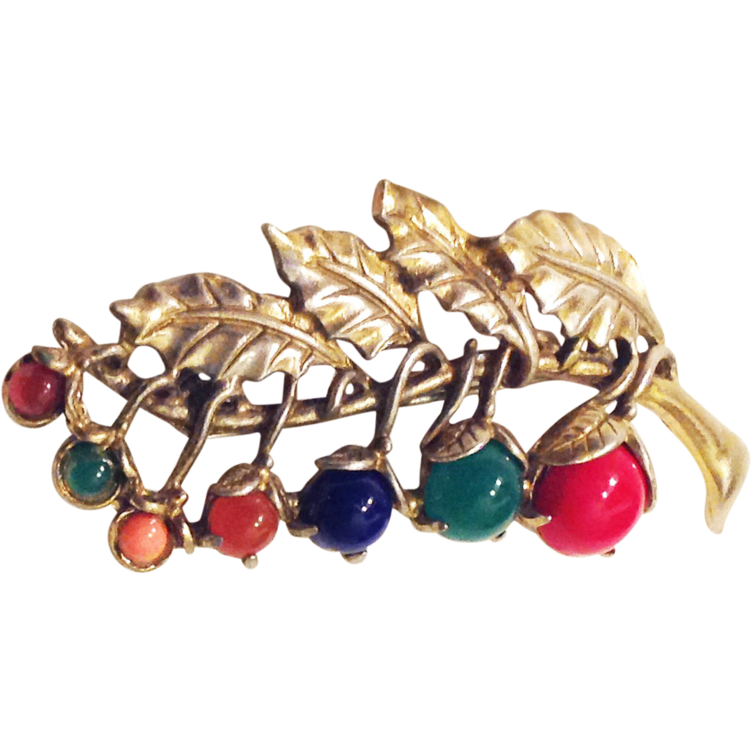 Little nemo ln 25 berries pin brooch multicolor simulated for Best place to sell gold jewelry in chicago
