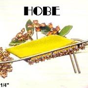 Hobe Pin: Vintage Hobe Wheel Barrow Pin Brooch Dated 1966, Hobe
