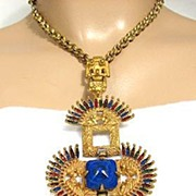 Castlecliff Vrba Necklace: Kissing Indians Pendant Necklace
