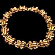 Modernist Industria Argentina Gold Tone Necklace