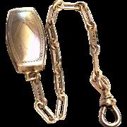 Hickok Belt O Gram Sterling Silver Pocket Watch Chain