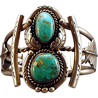 Exquisite Navajo Turquoise and Silver Bracelet