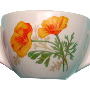 California Poppy Railroad Syracuse China Cream Soup Cup; rare